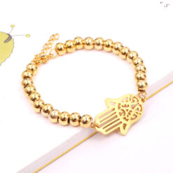 simple gold bracelet for ladies